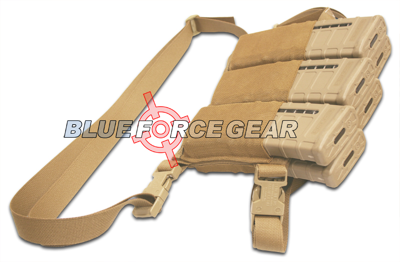 Blue Force Gear Ten-Speed Six Pack Magazine Pouch / Bandolier - Coyote Tan