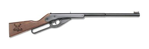 "Daisy Buck 105 Air Rifle 177BB 350 FPS 30"" Black Wood Lever Action Box 1 400 Shot 105"