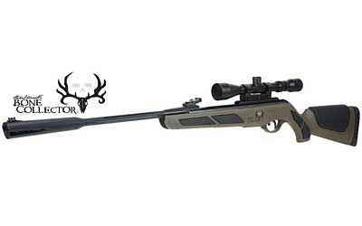 Gamo Bone Collector Air Rifle 22PEL 950 FPS Green Synthetic 3-9x40 Scope and PBA Platinum Pellets Box Single Shot 611006715554