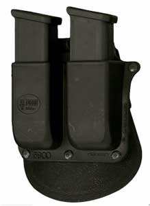 Fobus Paddle Double Mag Pouch Black M&P 6900PMP