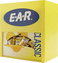 3M Disposable E-A-R Ear Plug Foam Yellow NRR 29 Display Box 200Pr 90581