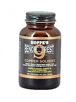 Hoppe's Bench Rest No. 9 Liquid 4oz Copper Solvent 10/Box Glass Container BR904