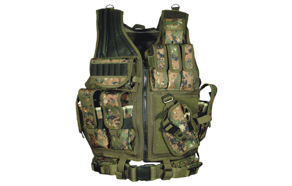 UTG Deluxe Tactical Crossdraw Vest - Woodland Digital (Marpat)