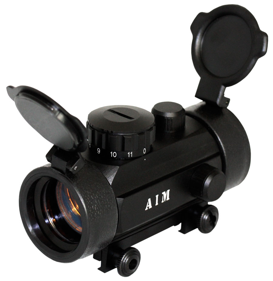 AIM Sports RT130W 1x30 Red Dot Scope with Pop Up Lens