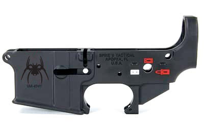 SPIKE'S STRIPPED LOWER RECEIVER (SPIDER) WITH SAFETY COLORFILLED