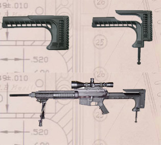 Mako SSR-25 Sniper Stock for M16/AR15/SR25