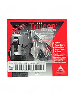 Trijicon CP25 AR-15/M16 3 dot green front & rear night sights