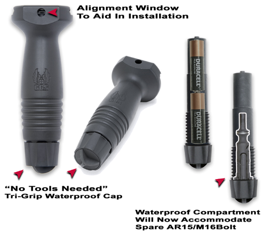 GG&G 1169-N Tactical Vertical Foregrip w/storage compartment