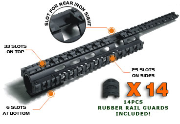 UTG MNT-T228 Tactical Quad Rail System for Ruger 10/22