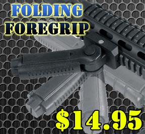 RB-FGRP170 5 Position Folding Vertical Foregrip just $18.95 at Area51Tactical.com
