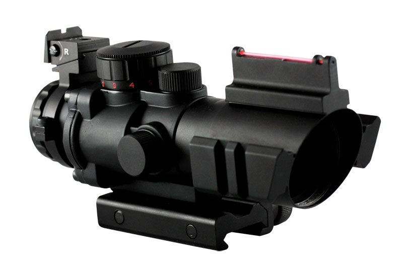 AIM JTDFO432G 4x32 Compact Red/Green Illuminated Tactical Scope