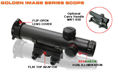 UTG 4x20 Combat Style Model 15 Range Estimating Mil-Dot Scope
