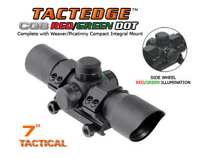 "UTG TactEdge 7"" Tactical CQB Red/Green Dot w/Picatinny Mount"